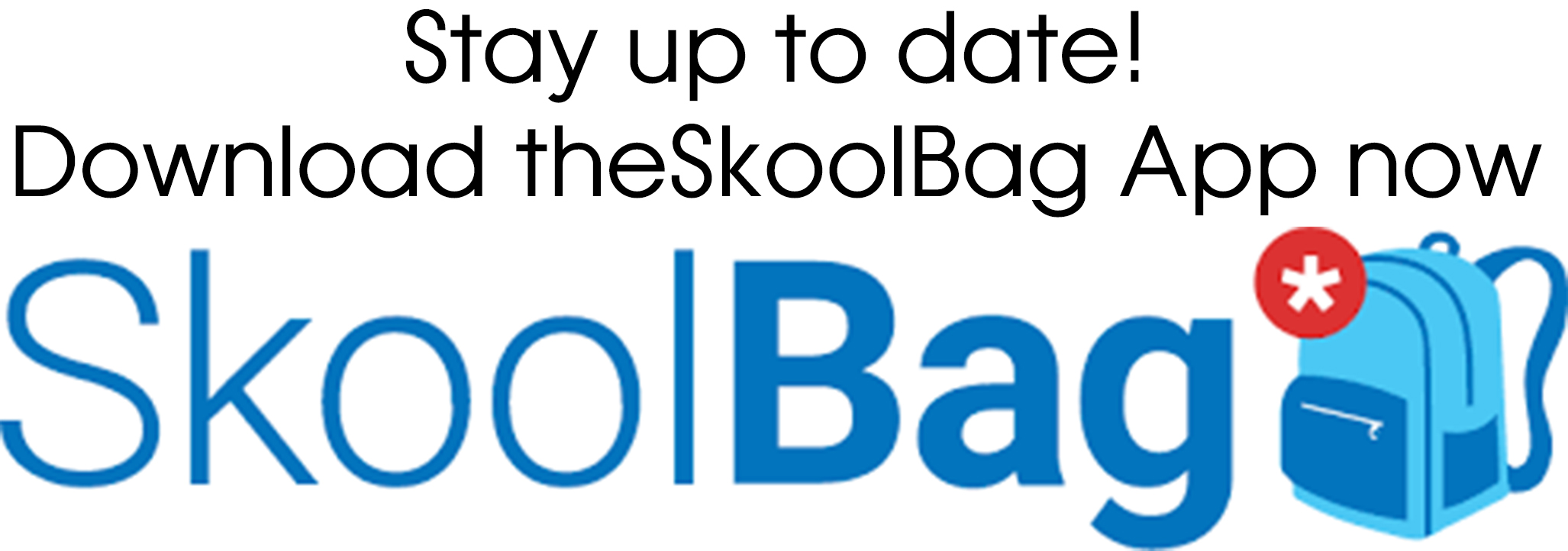 An image of the Skoolbag app logo with the words